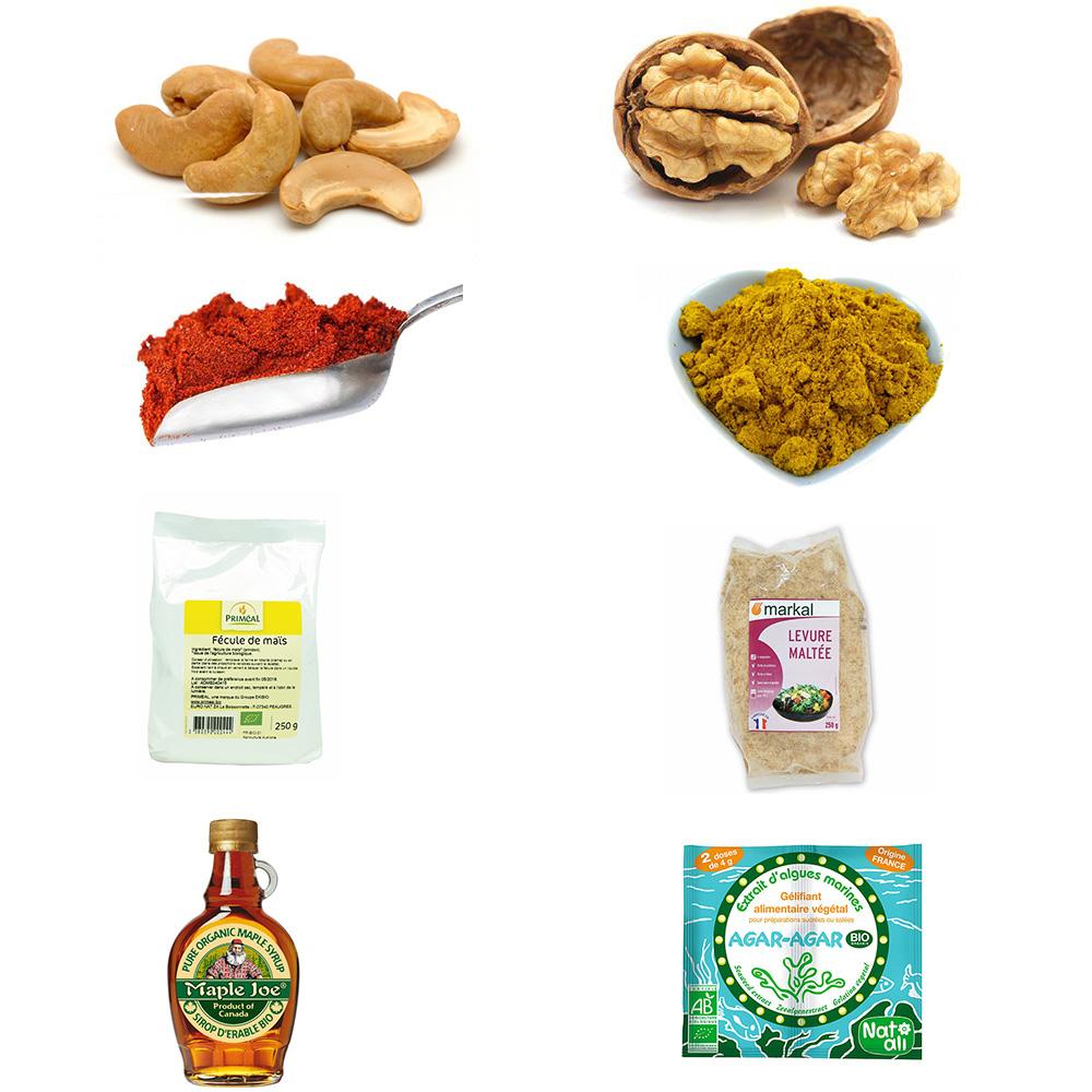 ingrédients recette fauxmage végan / végétarien