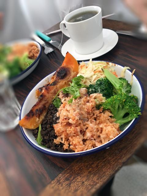 déjeuner végétarien composée du Booba Mara