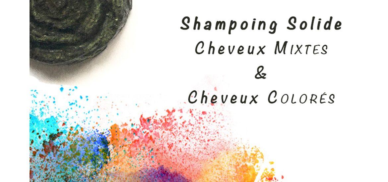 bandeau shampoing solide cheveux colorés et cheveux mixtes