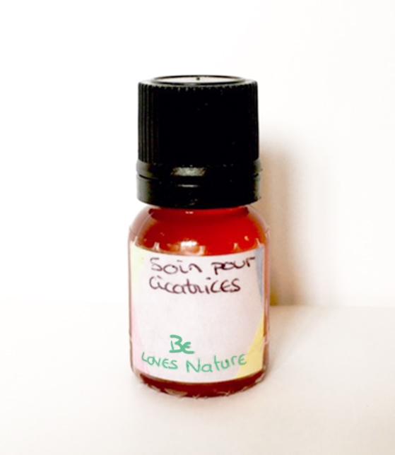 synergie d'huiles essentielles & huile végétale pour soin cicatrices