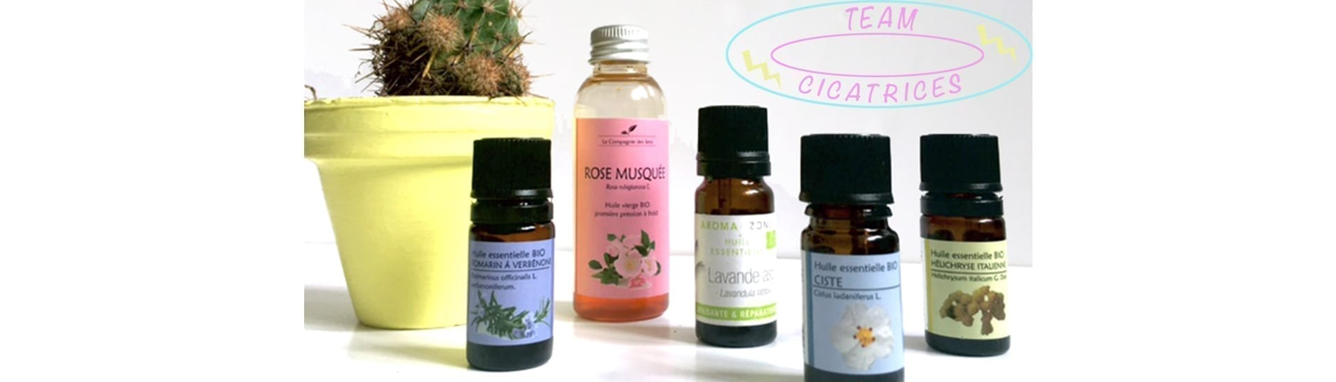 soins cicatrices aux huiles essentielles