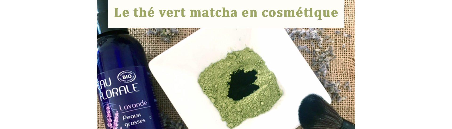 bandeau masque thé vert matcha en cosmétique