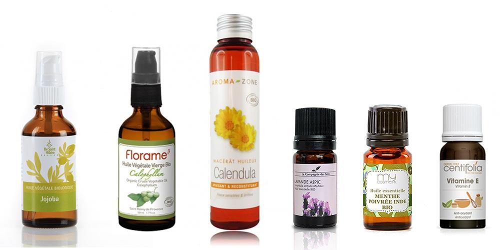 ingrédients huile après rasage