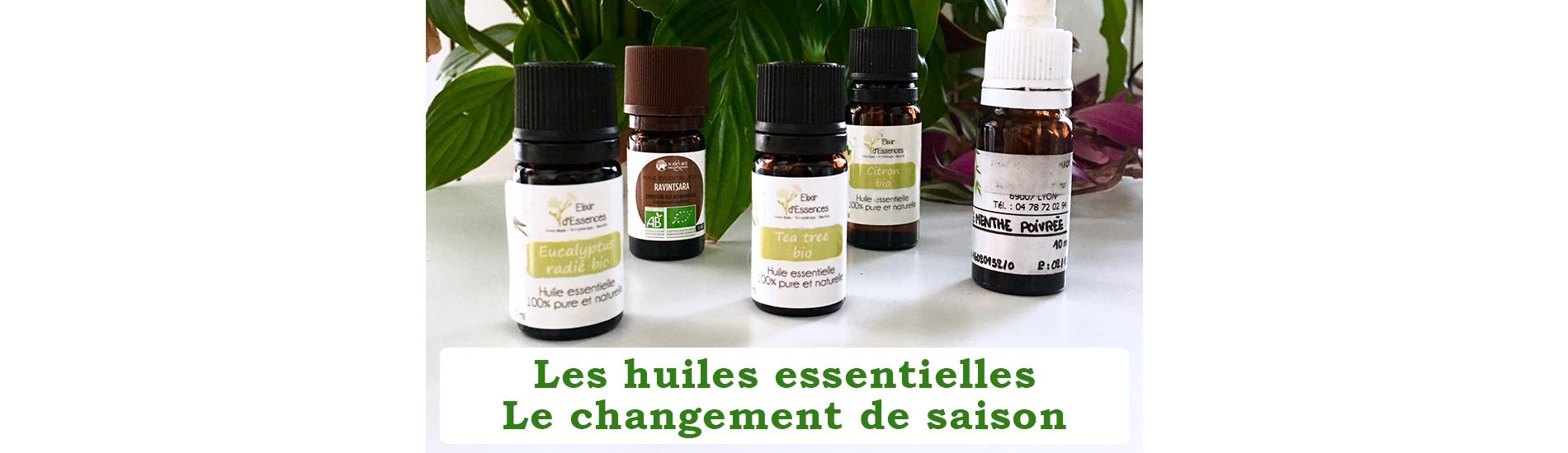 Bandeau huiles essentielles changement de saison
