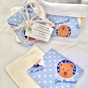 Nicolas & Pimprenelle carrés lavables bébé