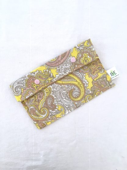 Pochette serviettes hygiéniques Cachemire jaune