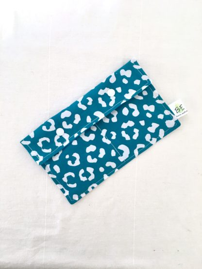 Pochette serviettes hygiéniques Léopard bleu