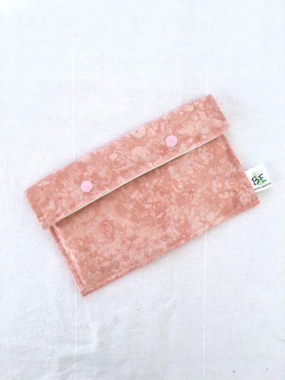 Pochette serviettes hygiéniques Marbre rose