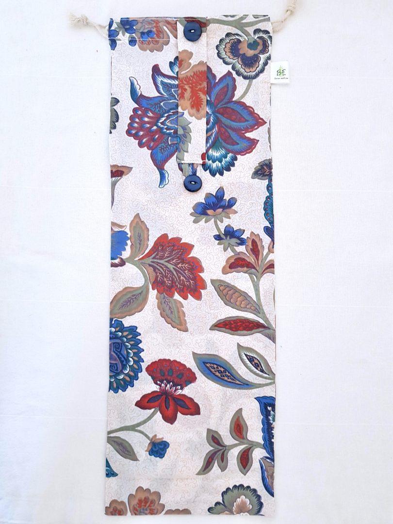 Sac à baguette & flûte Cachemire fleuri