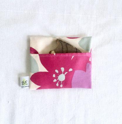 pochette à savon portefeuille Fleurs violettes