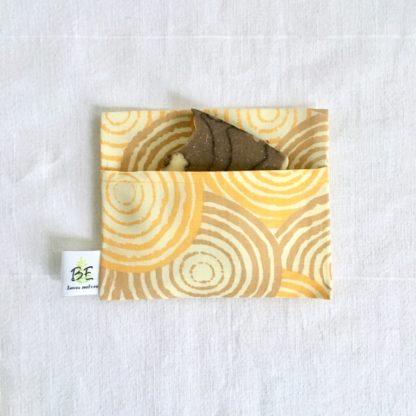 pochette à savon portefeuille Spirales jaunes