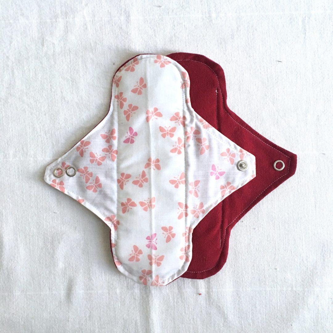 serviette hygiénique lavable Papillon
