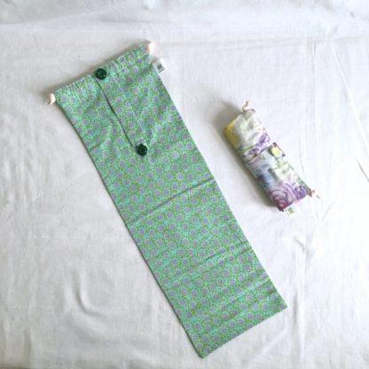 sac à baguette & flûte vert
