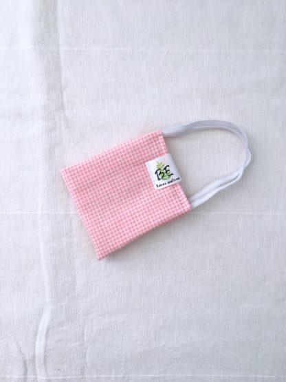 masque barrière femme vichy rose