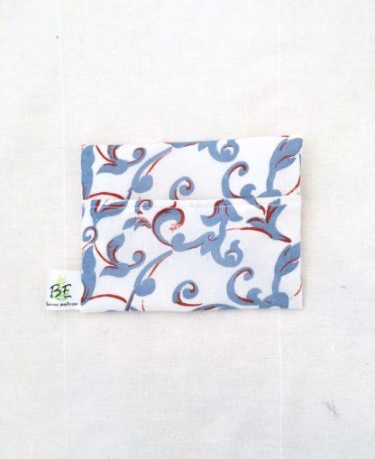 pochette à savon portefeuille Cachemire bleu