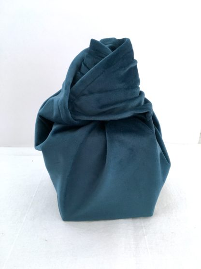 Furoshiki Bleu canard velours