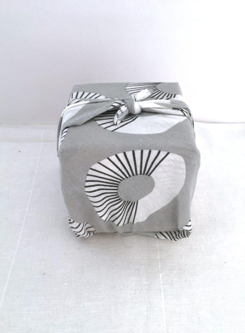 Furoshiki Graphique blanc et gris