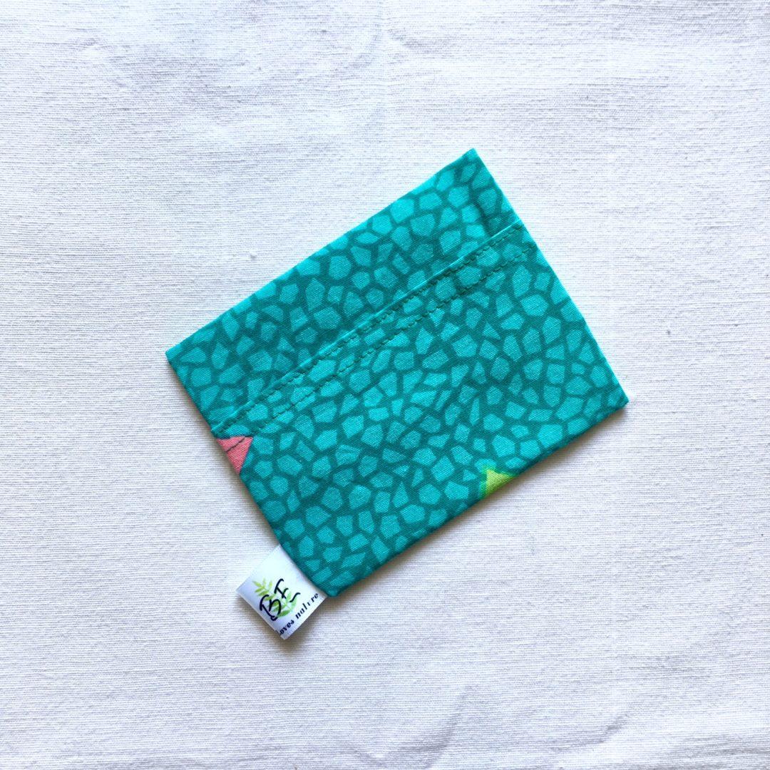 pochette à savon portefeuille écailles