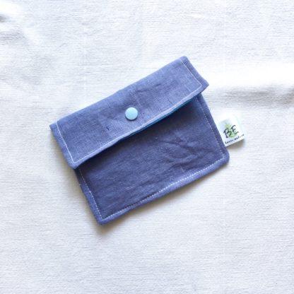 Pochette à savon Bleu lin