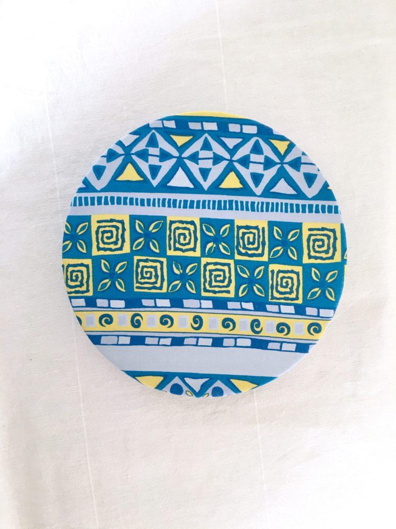 Charlotte à plats tissu Aztèque M posé
