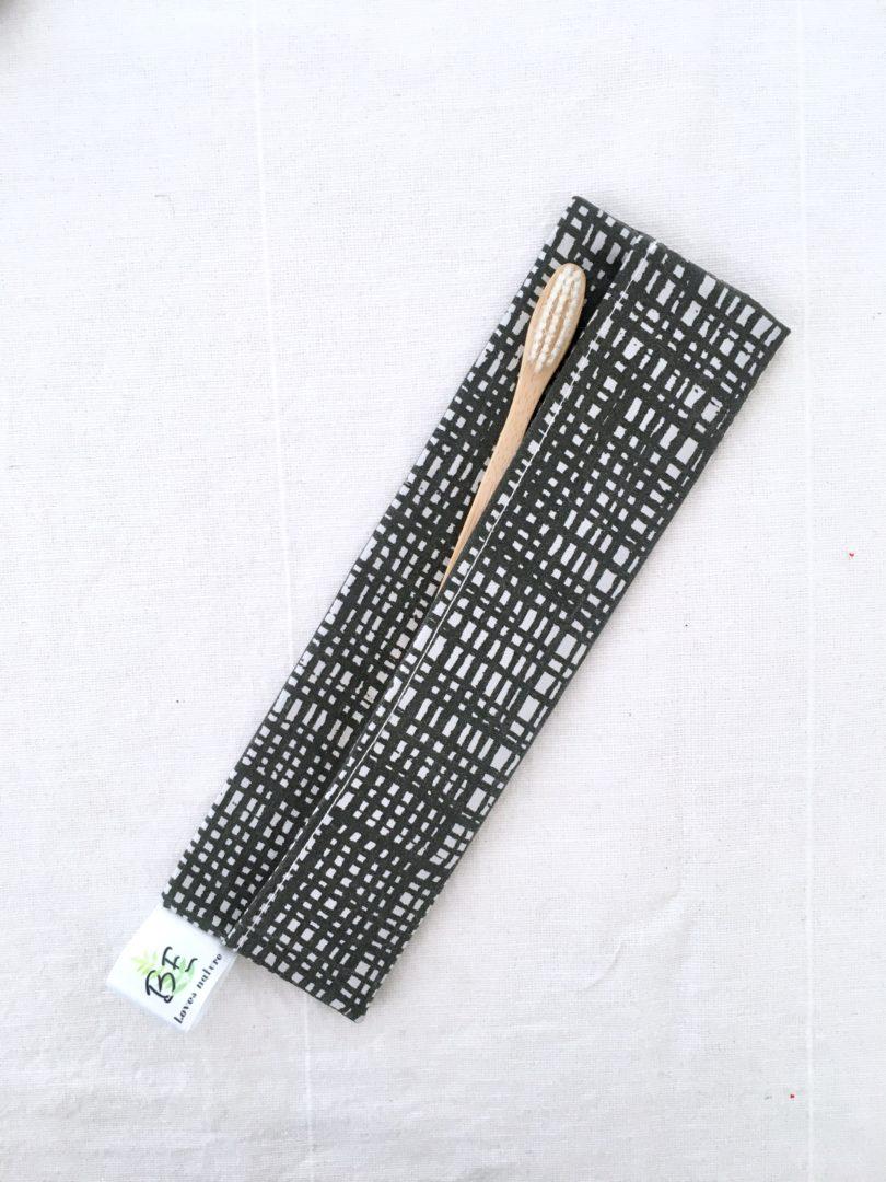 Pochettes brosse à dents imperméable Graphique gris