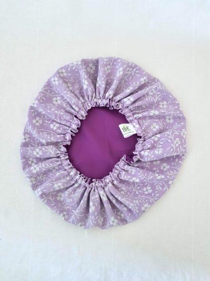 Charlotte à plats réutilisable XL Violet à fleurs blanches