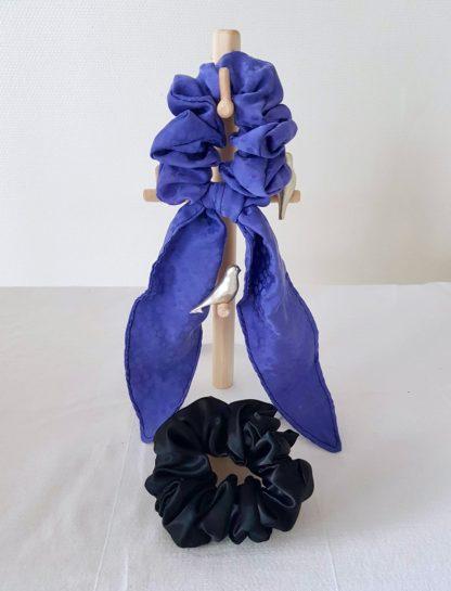 Kit chouchou foulchie Bleu et noir