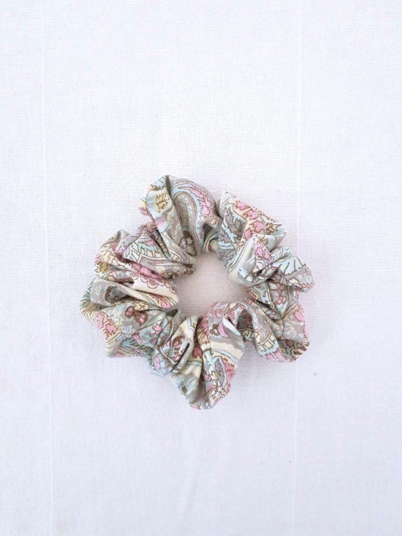 scrunchie chouchou cachemire pastel