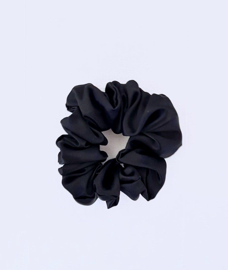 scrunchie chouchou satin noir