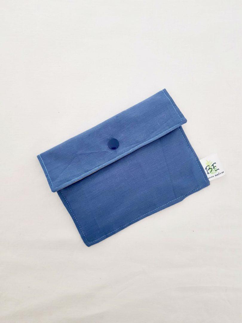 Pochette à savon et masque Bleu